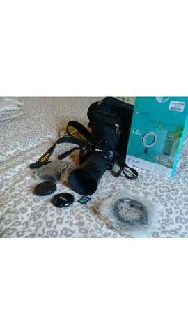 Câmera Nikon D3100 + lente 55-200 + acessórios