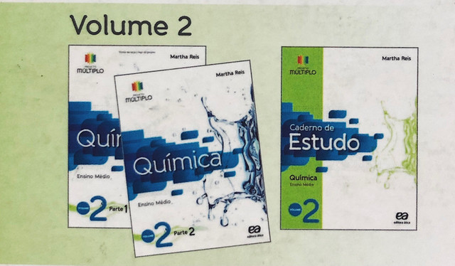 Coleção completa Química Ensino médio Volume 2 - Projeto Múltiplo - Martha Reis - Foto 2