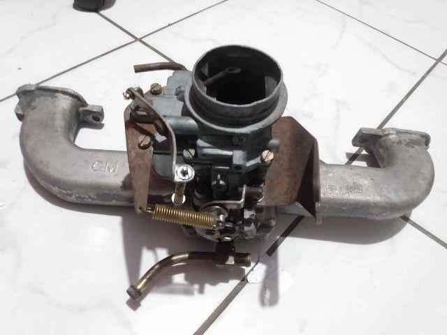 Carburador DFV 446 gasolina com coletor, filtro e cabo de acelerado - Foto 2