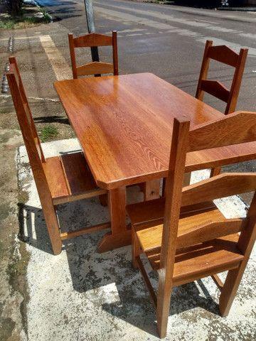 Mesa com 4 cadeiras Nova. Leia o anúncio ok. - Foto 3