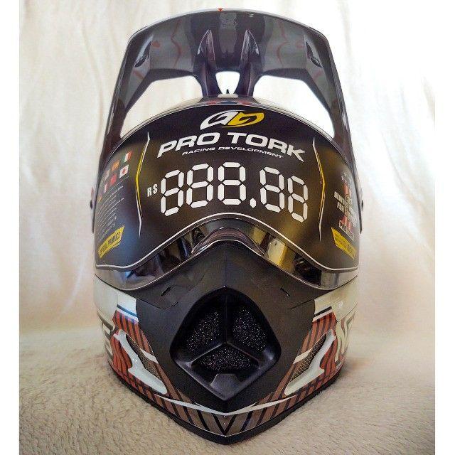 Capacete Moto Cross Pro Tork Branco | Tamanho 60 - Foto 5