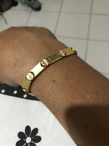 Bracelete romanel foleado a ouro!
