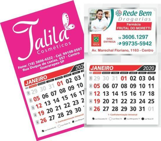 Calendario 2020 Com Feriados.500 Ima De Geladeira Personalizado 9x15cm Calendario 2020