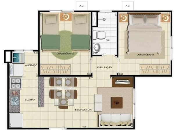 Alugo Lindo Apartamento com Quartos no condomínio Villa Jardim Azaleia - Foto 5