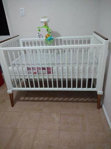 Berço mini cama branco laqueado - linha âmbar da sleeper - quarto crescente