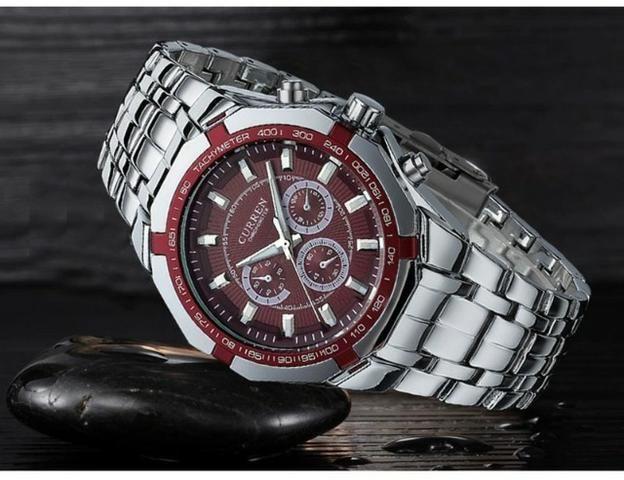 676af60139c Relógio Original A prova de água pulseira em Aço Inox - A Pronta Entrega