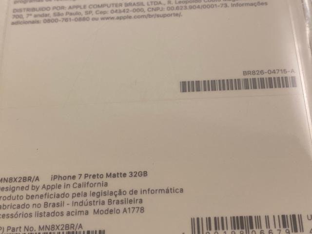 IPhone 7 Preto 32gb, NF + Garantia 1 ano, Anatel, Lacrado, Zero, A1778 - Foto 5