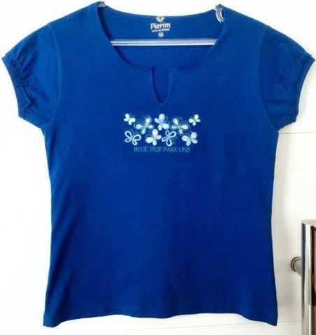 Camiseta Pierim Azul Royal, Tam. M