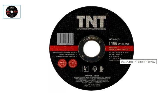 Disco De Corte Aço/inox 4 1/2 TNT Black atacado - Foto 2