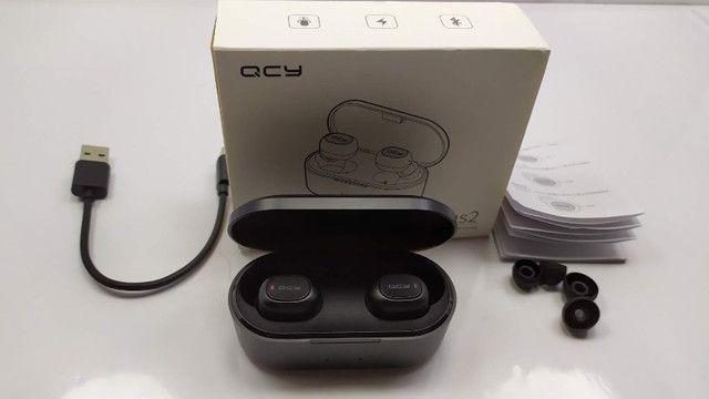 Fone De Ouvido Sem Fio QCY Qs2 Preto Bluetooth 5.0 - Foto 5