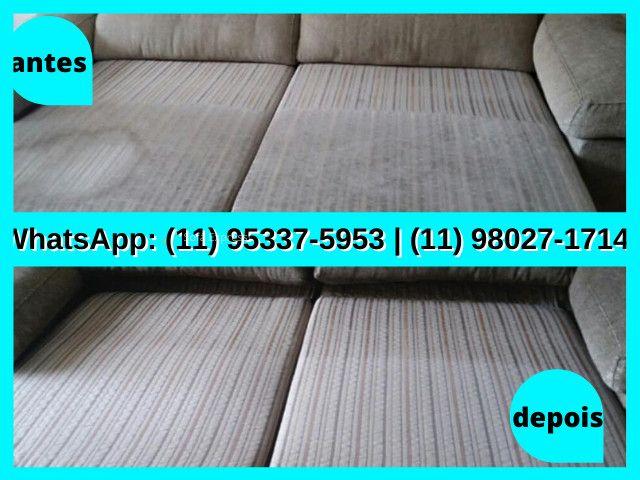 Limpar Sofá   Limpeza de Sofá   Higienização de Sofá   Estofado Limpinho   Sofá Limpo - Foto 4