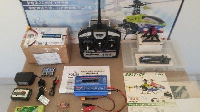 """Helicóptero Belt CP V2 - """"Super Completo"""" - (*Com todo meu Hobby). - Foto 3"""