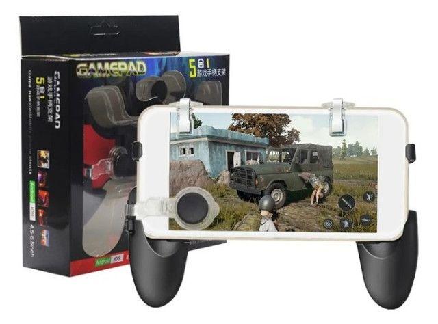 (NOVO) Gamepad Controle Para Celular 5 Em 1 Gatilho + Analógico - Foto 2