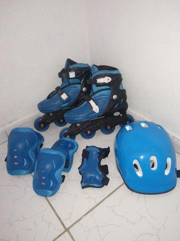 Vendo esse patins com o kit completo - Foto 6