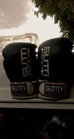 Luvas de boxe ou muhay tai, tamanho 14, em ótimo estado... - Foto 3