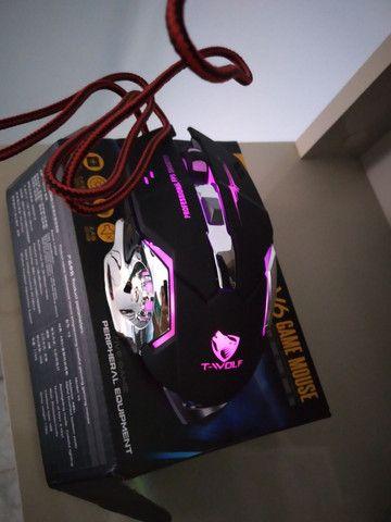 Mouse Gamer 6 Botões Professional USB RGB Novo Lacrado!!! - Foto 4