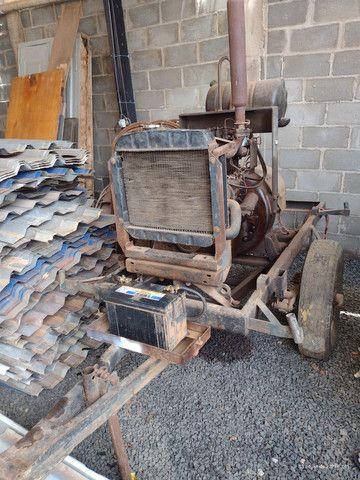 Motor a diesel com gerador e carretinha - Foto 2