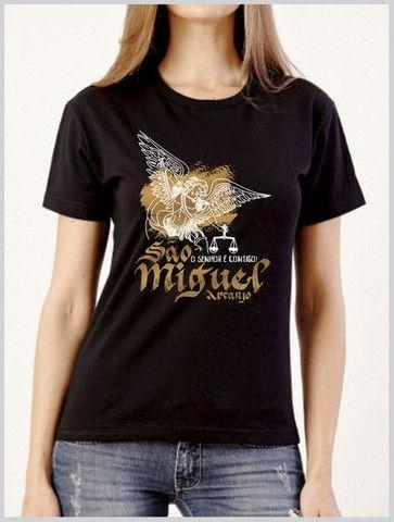 Camiseta em algodão + serigrafia : temática Católica  - Foto 3