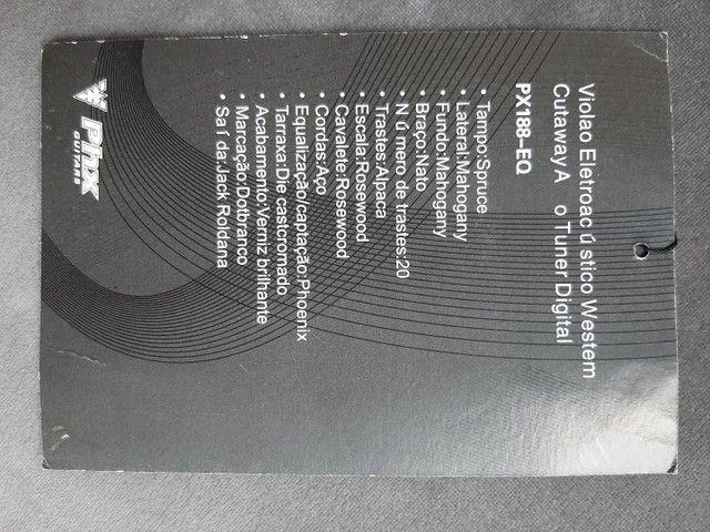 Violão Phx, com capa acolchoada  - Foto 5