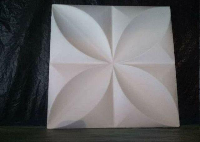 Placas de gesso 3D modelo floral - Foto 6