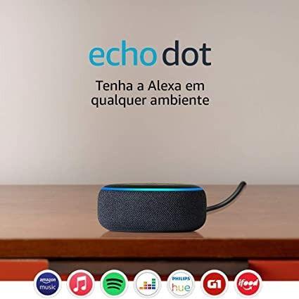 Echo Dot Amazon 3ª Geração Smart Speaker Com Alexa Wi-Fi - Foto 3