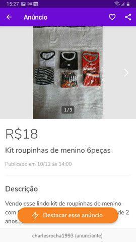 Diversos kits de roupinhas escolha o seu - Foto 3