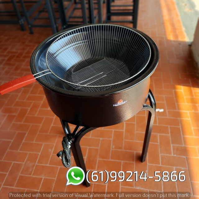 Fritadeira 14 Litros Esmaltada Pasteleiro a gás Progás - Foto 5