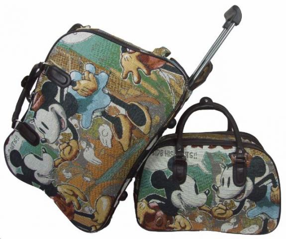 Bolsa De Mao Com Rodas : Kit mala do mickey e minnie de m?o maternidade