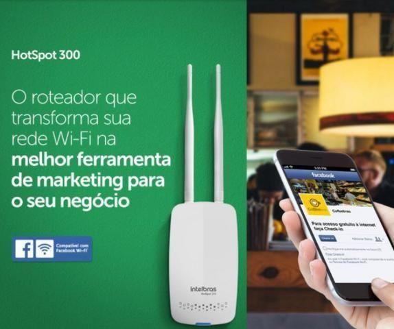 Hotspot 300 Intelbras check-in facebook