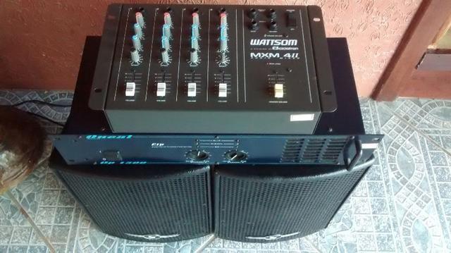 Caixa de Som, Amplificador e Mesa de Som