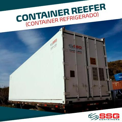Container Frigorífico 40 pés Refrigerado Câmara Fria 12 metros Conteiner usado aço inox - Foto 4