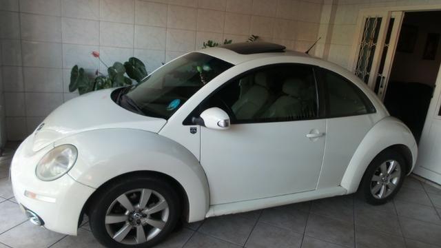 VW- New Beetle 2.0 Cor Branco Com Teto Solar Ano 2006/2007