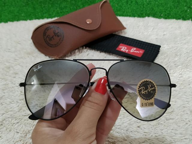 Óculos Ray Ban Aviador tradicional lente cinza - Bijouterias ... c4d416531a