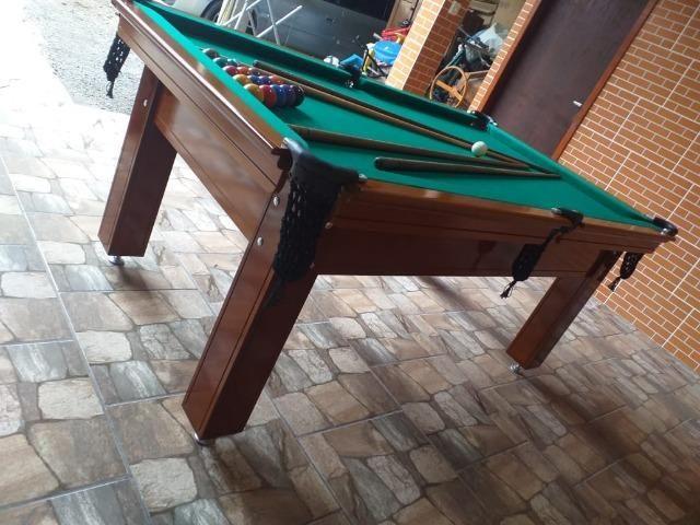 Mesa Tentação Carlin Cor Imbuia Tecido Verde Mod. EKZN8308 - Foto 3