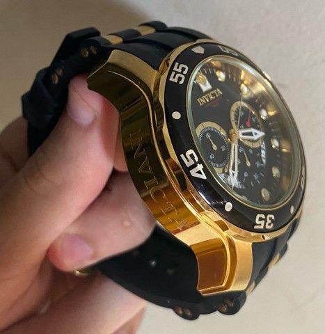 Relógio Invicta Pro Diver 6981 Ouro 18k - Foto 3
