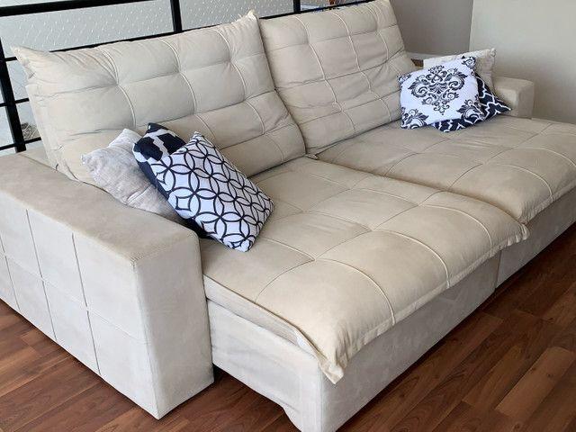 Sofa retrátil e reclinável 2,68  largura  - Foto 3