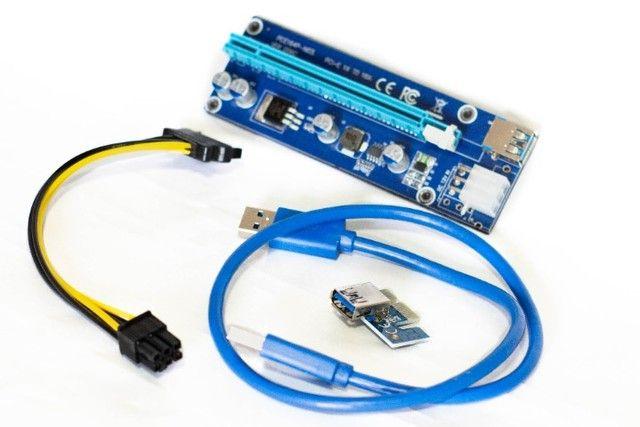 Cabo Riser PCI-e adaptador para mineração c/garantia  - Foto 2