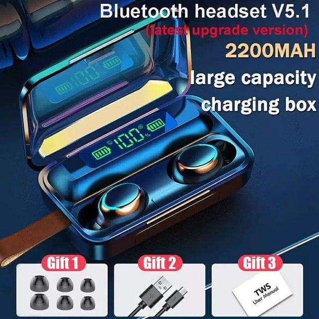 Fone Bluetooth F9 V5.1 Surround 5.1 - Foto 2