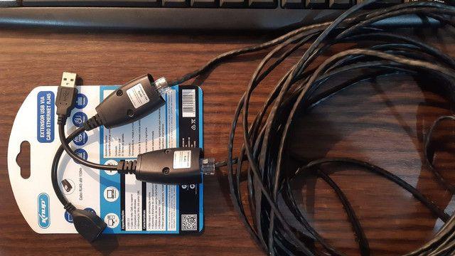 Adaptador extensor USB via cabo de rede RJ45 - Foto 4