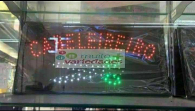 Placa de led letreiro