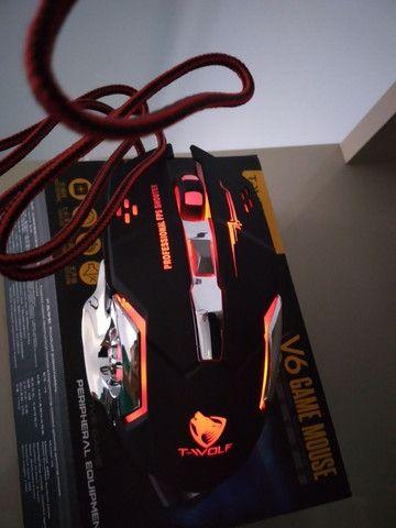 Mouse Gamer 6 Botões Professional USB RGB Novo Lacrado!!! - Foto 3