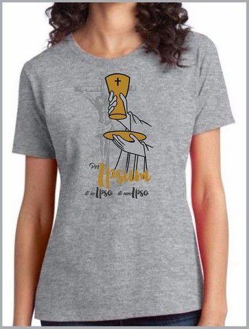 Camiseta em algodão + serigrafia : temática Católica  - Foto 6