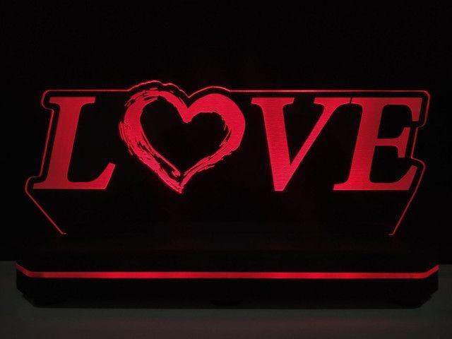 Luminária Love personalizada bi volts