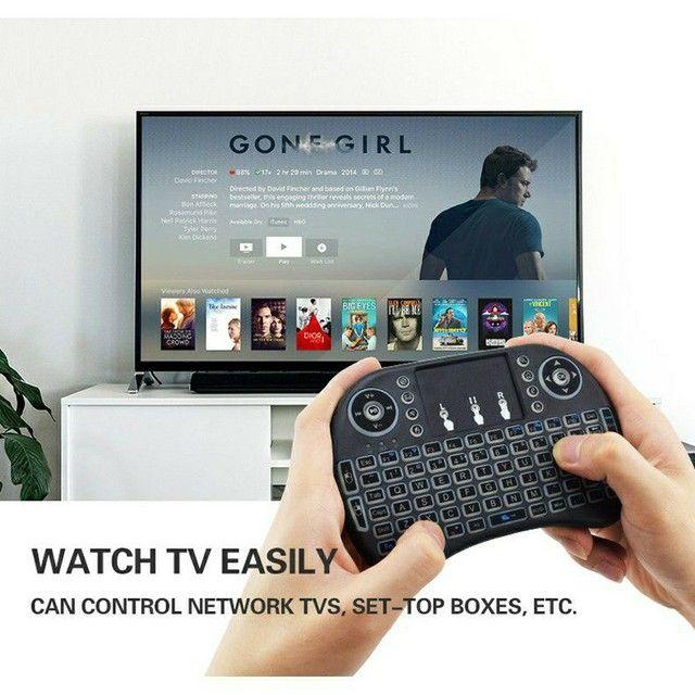 Mini Teclado Controle Sem Fio Para Smart Tv Tv Box Pc Celular - Foto 4