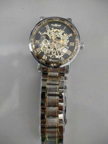 Relógio Winner Automático Engrenagem Luxo - Foto 4