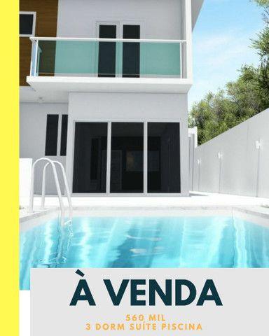 Casa 3 dorm suíte Quintal amplo piscina