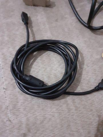 Cabos de energia para pc e monitor  - Foto 5