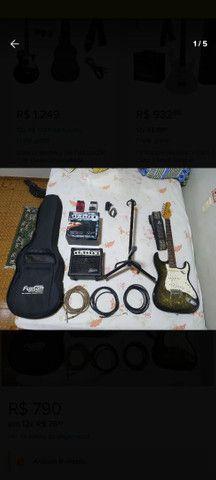 Guitarra Condor completa com amplificador