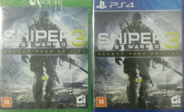 Sniper ghost warriors 3 ps4 e xbox one ( pronta entrega! )
