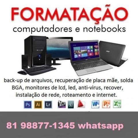 R 60,00 - Formatação de computadores - atendo em domicilio
